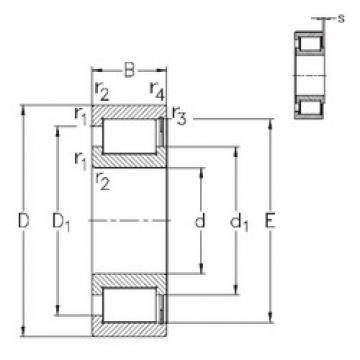 Rodamiento NCF28/750-V NKE