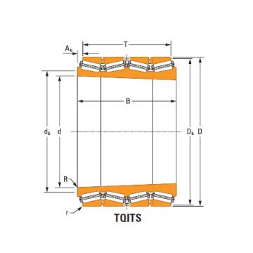 Four-Row Tapered Roller Bearings  m281631T m281610 single cup