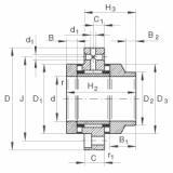 FAG Rolamento axial de agulhas e rolos cilíndricos - ZARF45130-L-TV