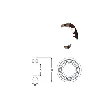 P6905-GB ZEN Deep Groove Ball Bearings